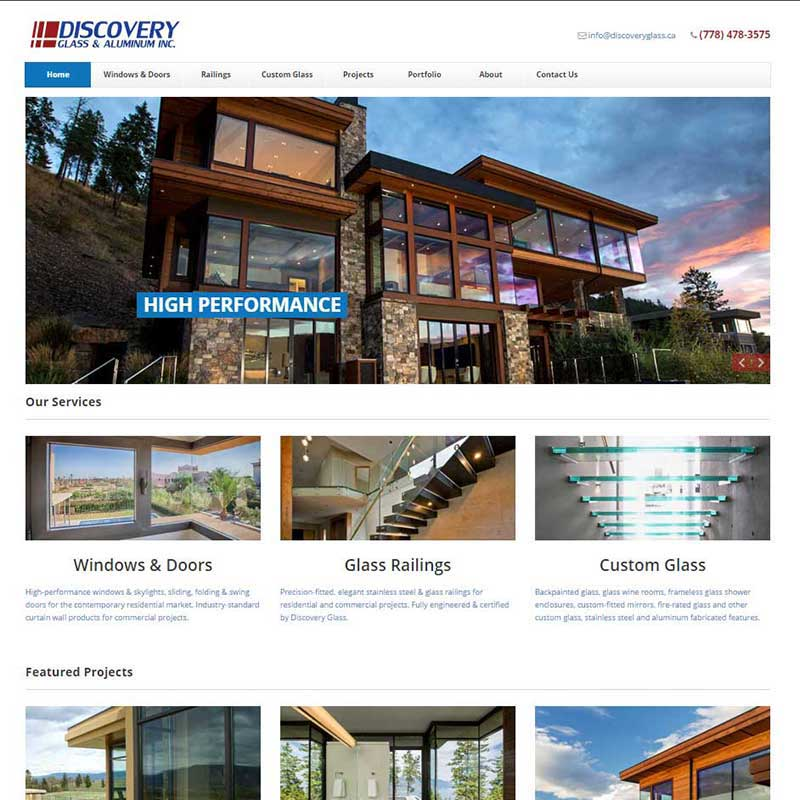 Discovery Glass & Aluminum Inc. Home Page
